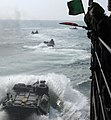 US Navy 110730-N-GH121-081 Marines assigned to the 22nd Marine Expeditionary Unit (22nd MEU) launch amphibious assault vehicles from the amphibious.jpg