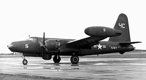 Blackbushe Airport - US Navy Lockheed P2V-5 Neptune patrol aircraft visiting the USN facility at Blackbushe in September 1954