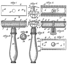 Gillette safety razor patent drawing