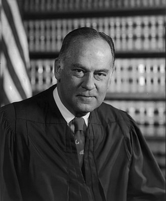 "Justice Potter Stewart wrote that while he could not precisely define pornography, he ""[knew] it when [he saw] it"". US Supreme Court Justice Potter Stewart - 1976 official portrait.jpg"