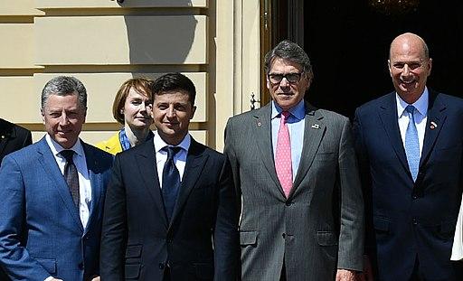 US delegation at inauguration of Volodymyr Zelensky, May 20, 2019