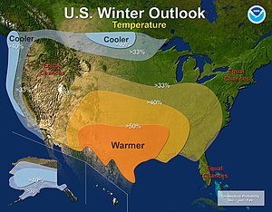 2010–11 North American winter - Temperature Outlook