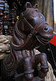 Udupi - Scenes of Sri Krishna Temple, Wooden sculpture on the chariot2.jpg