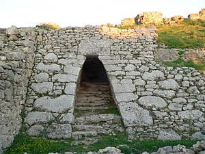 Hurrian songs - The Entrance to the royal palace at Ugarit, where the Hurrian songs were found.