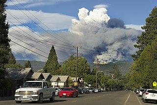 Mendocino Complex Fire 2018 wildfire in California