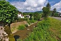 Ulička v obci, Topoľa, okres Snina.jpg