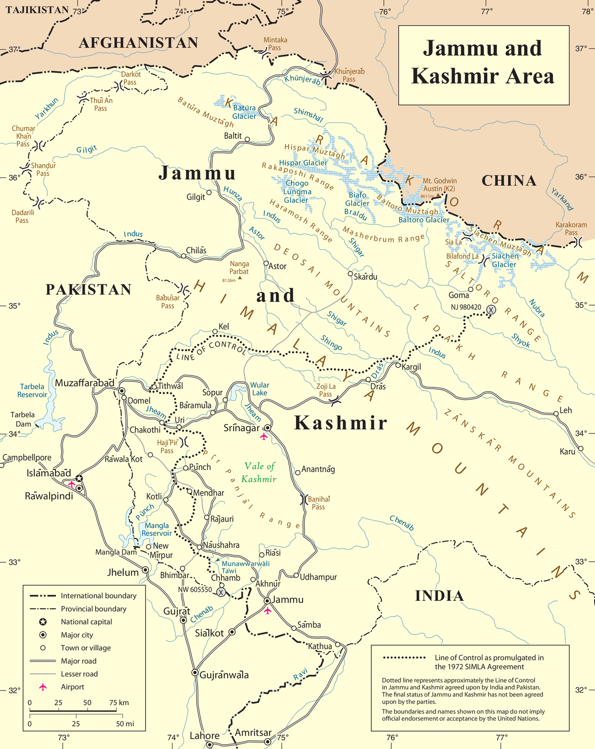 Kashmir conflict  Simple English Wikipedia the free encyclopedia