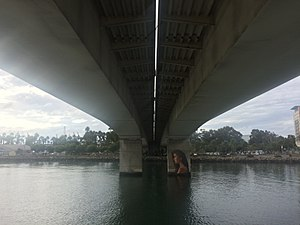 Queensway Twin Bridges - View of bridge from underneath (2016), which has been used as the shooting location for scenes from Dexter