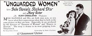 <i>Unguarded Women</i> 1924 film