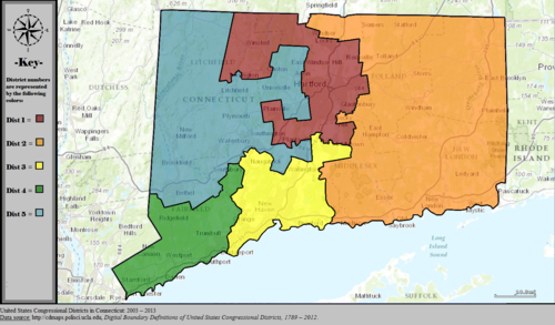 United States Congressional Districts in Connecticut, 2003 – 2013.tif