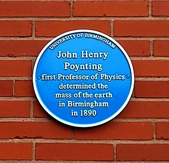 John Henry Poynting - University of Birmingham – Poynting Physics Building – blue plaque