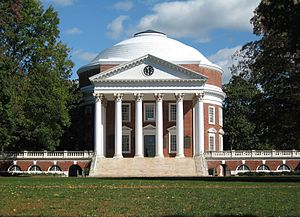Rotunda (architecture) - The Rotunda at the University of Virginia, famously designed by the third US president Thomas Jefferson.