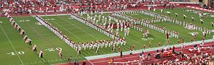 University of Arkansas Razorback Marching Band - Marching Band in U of A formation