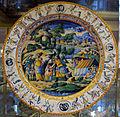 Urbino, bottega fontana, piatto a raffaellesche con incontro tra aronne e mosè, 1570 ca..JPG