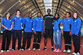 Usain Bolt pictured with seven of Brunel's student athletes - 30 July 2009.jpg