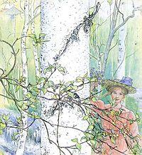 Carl Larsson, Våren (The Spring), 1907
