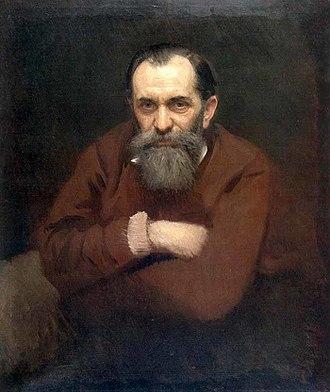 Vasily Perov - Portrait of Vasily Perov by Ivan Kramskoi (1881)