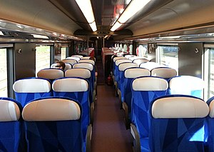 V250 (train) - Image: V250 Interior 2e klasse 2