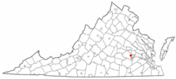 Location of Chester, Virginia
