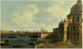 VENICE, A VIEW OF THE GRAND CANAL LOOKING EAST WITH SANTA MARIA DELLA SALUTE.PNG