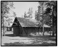 VIEW NORTHEAST - Snowlodge, Tourist Cabin Bathhouse No. 5, 100' south of Snowlodge, West Thumb, Teton County, WY HABS WYO,20-OFAIT,3C-2.tif