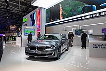 Stand of the supplier Valeo at the IAA Mobility 2021 with a demonstrator for automated parking