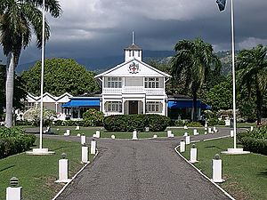 Prime Minister of Jamaica - Front Lawns of Vale Royal