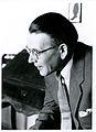 Valtionarkisto 1957. Aslak Outakoski Hämeenlinnassa 20.-21.5. 1957 pidetyssä arkistokokouksessa. Kansallisarkisto.jpg