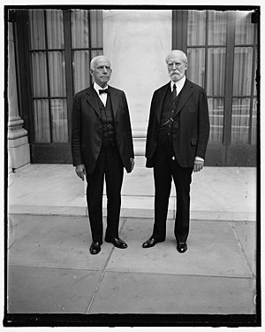 Equal justice under law - Justice Van Devanter (left) and Chief Justice Hughes