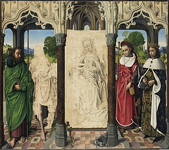 The Phoebus Foundation - Hugo Van der Goes' Madonna with saints from the collection of the Phoebus Foundation, on long-term loan to the Art Institute of Chicago
