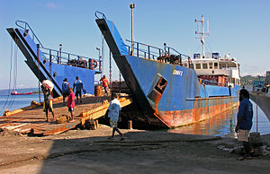 Transport in Vanuatu - An inter-island ferry