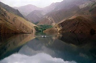 Varian, Iran - The waterway leading to Varian.