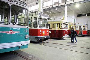 Museum of Electrical Transport (Saint Petersburg) - Image: Vasileostrovsky tram half depot 4