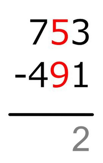 Subtraction - Image: Vertical Subtraction Method B Step 3