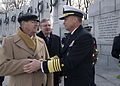 Vice Chairman of the Joint Chiefs of Staff Navy Adm. James A. Winnefeld Jr., right, shakes hands with a Navy veteran during a Pearl Harbor remembrance ceremony 121207-D-TT930-013.jpg
