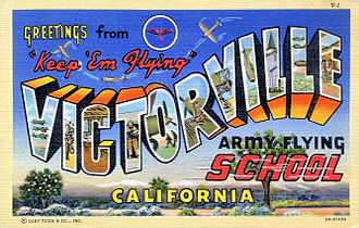 George Air Force Base - 1943 Postcard from Victorville Army Airfield California during World War II