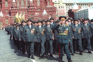 2000 Moscow Victory Day Parade - Image: Victory Day Parade 9 May 2000 2