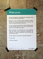 Vienna Westbahnhof September 2015 information for refugees 1.jpg