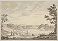 View of Naesse castle with Lake Furesø from the West MET DP830539.jpg