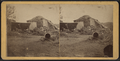 View of a collapsed barn with a haystack, from Robert N. Dennis collection of stereoscopic views.png