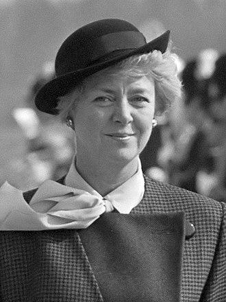 Vigdís Finnbogadóttir - Vigdis Finnbogadottir in September 1985