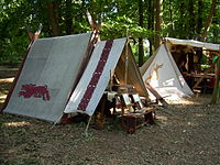 A viking encampment.