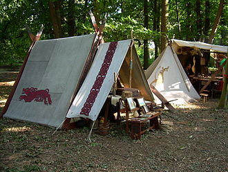 Living history - A Viking encampment.