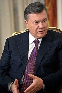 Viktor Yanukovych Ukrainian politician who was the President of Ukraine