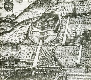 Villa Mondragone - The Villa Mondragone in 1620, etching of Matthaeus Greuter