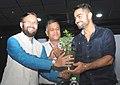 Virat Kohli with Prakash Javadekar.jpg