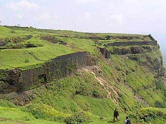 Visapur Fort - Image: Visapoor Walls