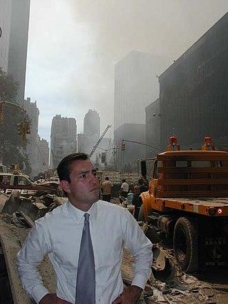 Vito Fossella - Fossella in Lower Manhattan on September 12, 2001.
