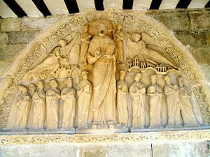 Armentia -  Tympanum of the Ascension of Jesus