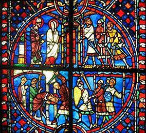 Nicasius of Rheims - Image: Vitrail Louvre